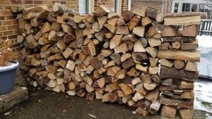 Stacked Firewood Delivery